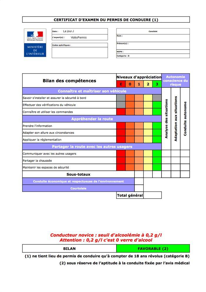 """Résultat de recherche d'images pour """"certificat d'examen du permis de conduire"""""""